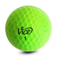 Vice PRO SOFT Neon Lime Golfbälle Gelb Ansicht Front