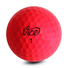 Vice PRO SOFT Neon Red Golfbälle Rot Ansicht Front