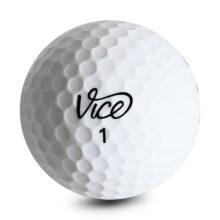 Vice TOUR Golfbälle Weiß Ansicht Front