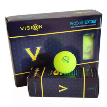 Vision Pro Soft UV Yellow™ Matt Golfbälle Gelb 12er Box