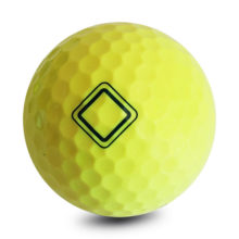 Vision Pro Soft UV Yellow™ Pro Golfbälle Gelb Frontansicht