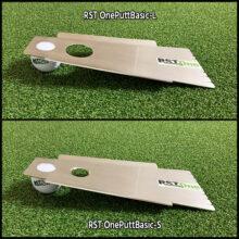 RST OnePuttBasic Putting Trainingshilfe auf Puttingmatte Ansicht Größe L und S