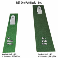 RST OnePuttBasic Putting Trainingshilfe im Set mit Puttingmatte 2 Größen frei