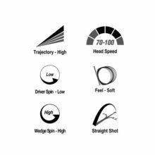 Volvik Solice Golfbälle Metallic Cover Eigenschaften