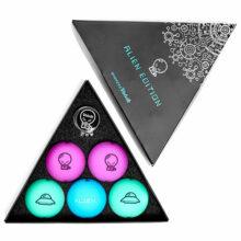 Volvik Vivid Alien Pack Golfbälle Bunt Mix geöffnet