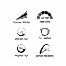 Volvik Vivid Rainbow Pack Golfbälle Bunt Eigenschaften