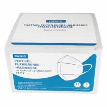 FUXIBIO FFP2 – zertifizierte Atemschutzmaske Mundschutz Ansicht Verpackung Vorne räumlich