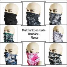 Multifunktionstuch Fleece Bandana Gesichtsmaske Alle Farben