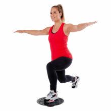 P2I Balance Board Gleichgewichtstraining höhenverstellbar Frau Stabilisierungsübung 1 Bein
