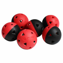 P2I Impact Golf Airflow Übungsbälle Rot Schwarz Ansicht 6 Trainingsbälle