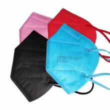 FFP2 Maske Mundschutz Bunt CE zertifiziert 5 lagig alle Farben übereinander