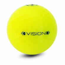Vision Pro Tour X UVee® Yellow Glanz Golfbälle Gelb Frontansicht