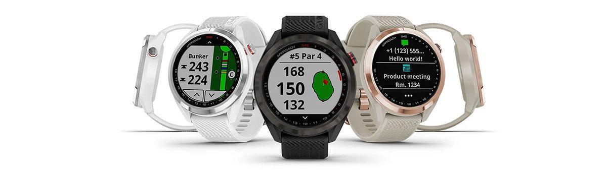 Garmin Approach S42 GPS Golfuhr Banner alle 3 Farbvarianten