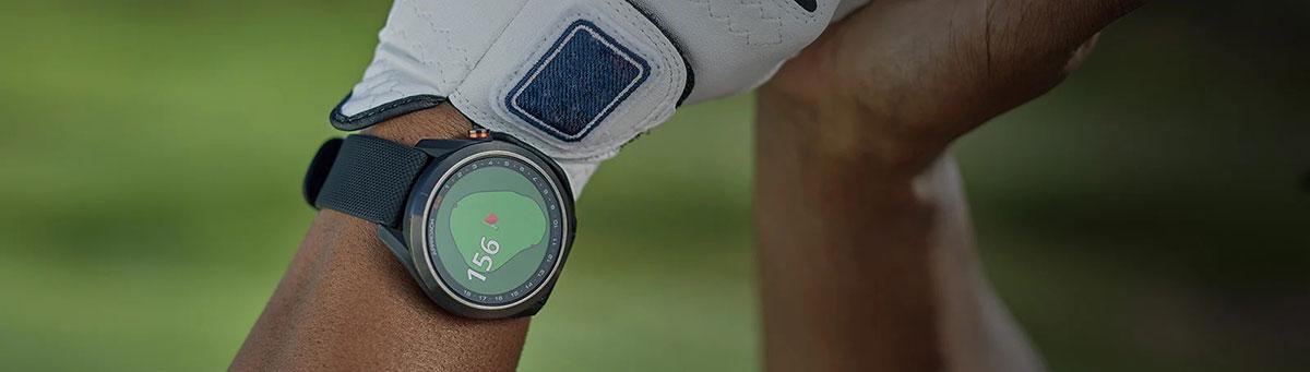 Garmin Approach S42 GPS Golfuhr Banner alle Informationen auf einen Blick