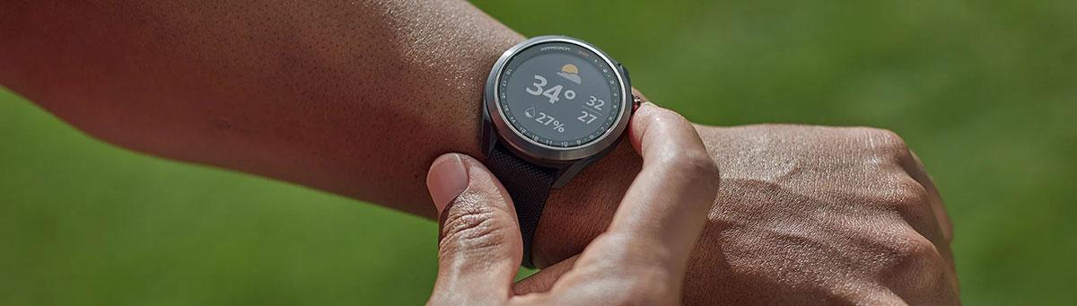 Garmin Approach S42 GPS Golfuhr Banner jederzeit bestens informiert