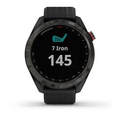 Garmin Approach S42 GPS Golfuhr Grau mit schwarzem Armband Front Iron allgemein