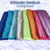 Kühlendes Handtuch Cooling Towel Mikrofaser 100 x 30cm Ansicht 8 Farben ausgebreitet Composing