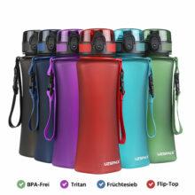 Curved Trinkflasche 0,7L Tritan BPA-Frei für Sport 6 Farben Titelbild beschriftet