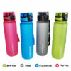 Trinkflasche Wasserflasche 1L Tritan BPA-Frei 4 Farben versetzt beschriftet