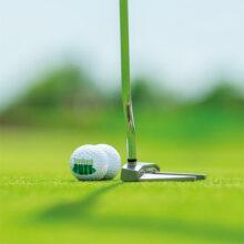 feedback PUTT-Trainingsbälle magnetische Golfbälle auf Green mit Putter