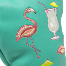 Clubhatz Headcover Fairwayholz The Flamingo Schlägerhaube Nahansicht